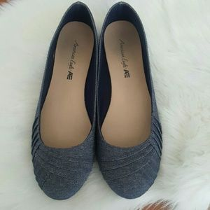 American Eagle blue slip on flat shoes size 8.5M